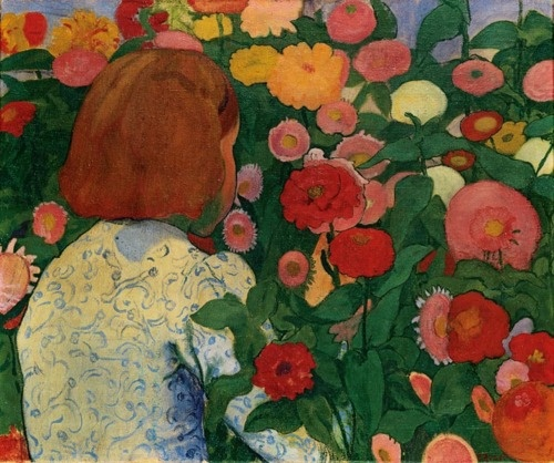 Girl with Flowers - Cuno Amiet