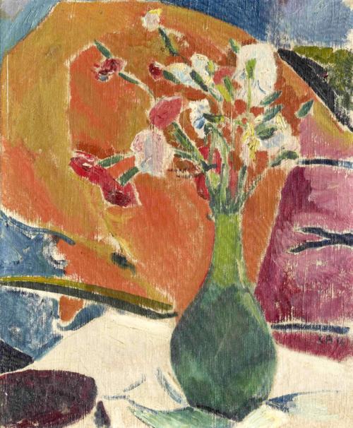 Nelken Auf Orange, 1916