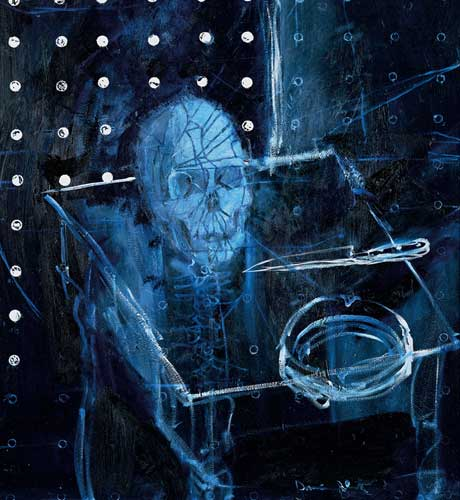 Human Skull In Space Damien Hirst Wikiart Org