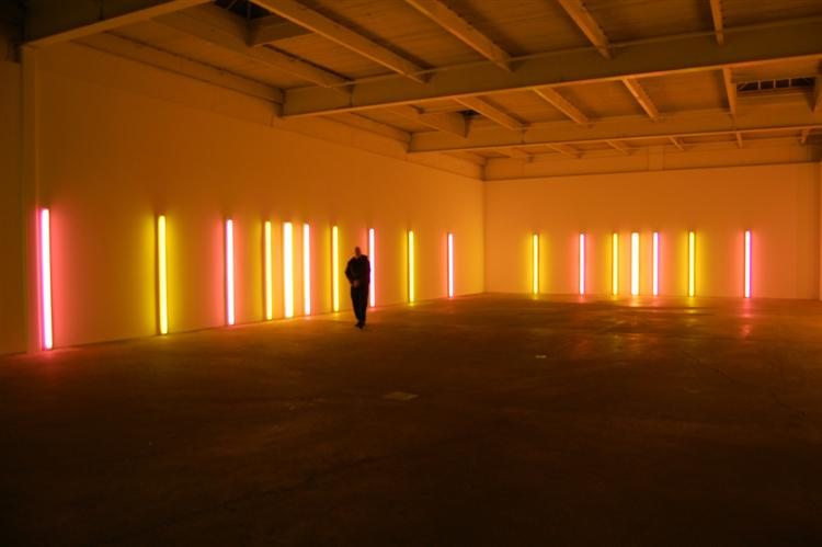 "Alternating pink and ""gold"", 1967 - Dan Flavin"