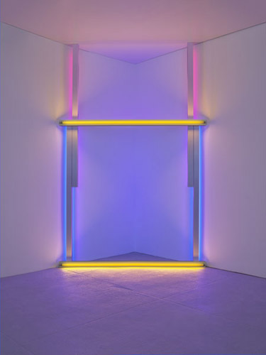 Untitled (to Barnett Newman to commemorate his simple problem, red, yellow and blue), 1970 - Dan Flavin