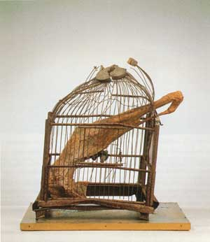 Cage d 39 oiseau 1969 daniel spoerri for Cage d oiseau decorative