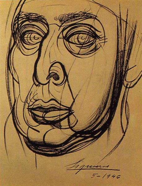 Self-Portrait, 1946 - David Alfaro Siqueiros
