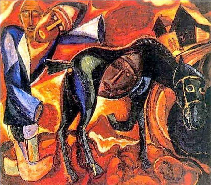 Пахарь, c.1910 - Давид Бурлюк