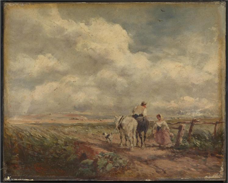 The Road across the Common, 1853 - David Cox