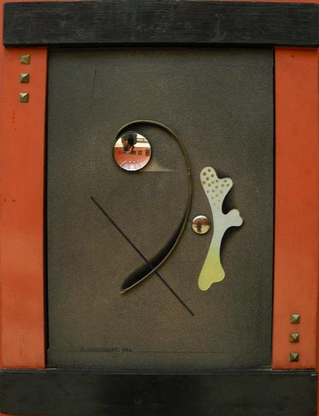 Constructive-decorative composition, 1924 - David Kakabadze