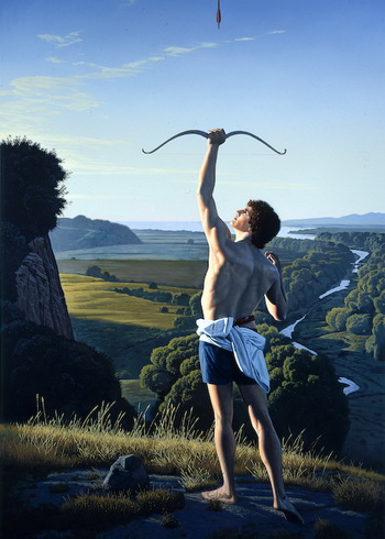 Landscape with an Archer, 1991 - David Ligare