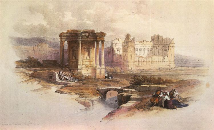 Baalbek. The Circular Temple - David Roberts