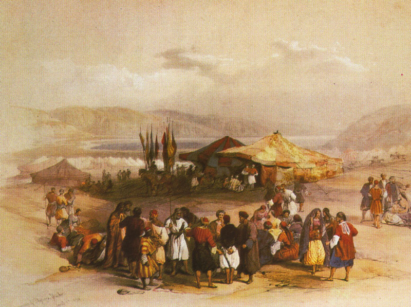Encampment of the Pilgrims at Jericho