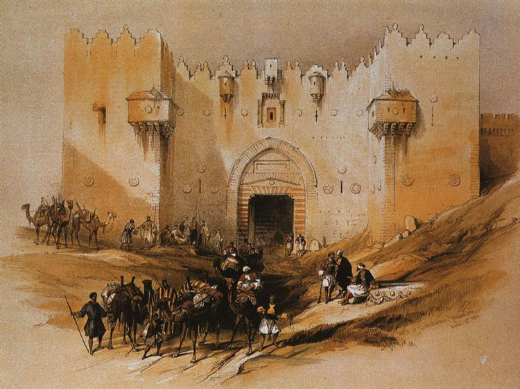 Jerusalem. The Damascus Gate - David Roberts