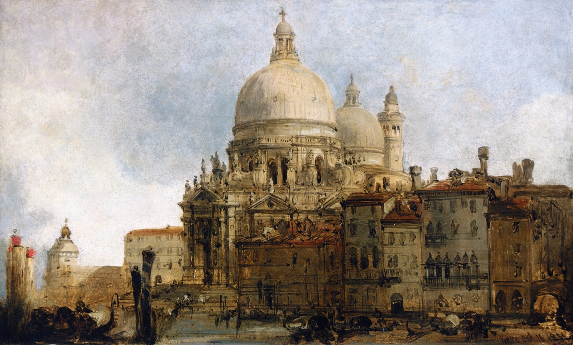 View of the Church of Santa Maria della Salute, on the Grand Canal, Venice, with the Dogana beyond, 1851