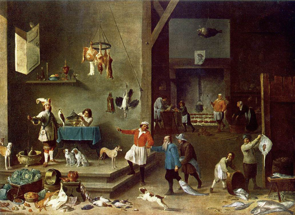 The Kitchen 1646 David Teniers The Younger Wikiart Org
