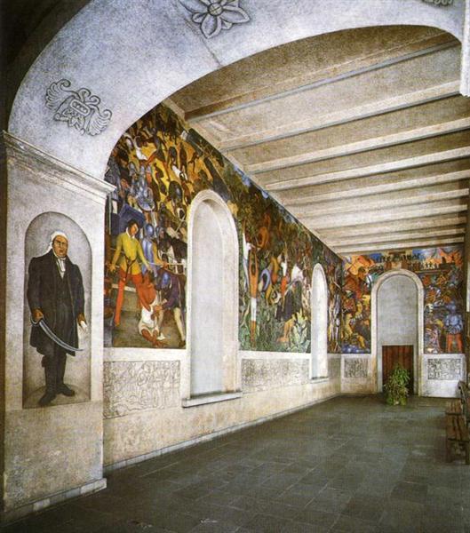 Conquest and Revolution, 1930 - 1931 - Diego Rivera