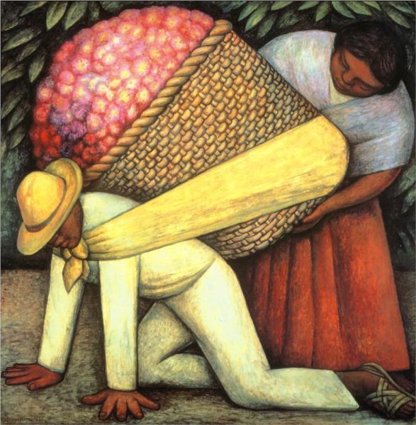 Flower Carrier, 1935 - Diego Rivera