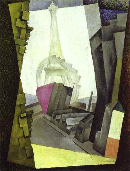 la tour eiffel 1914 diego rivera wikiartorg