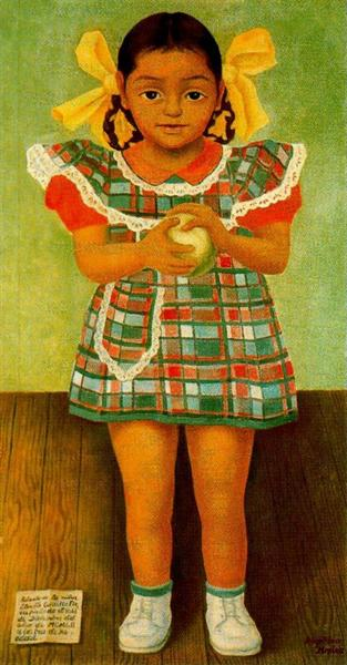 Portrait of the Young Girl Elenita Carrillo Flores, 1952 - Diego Rivera