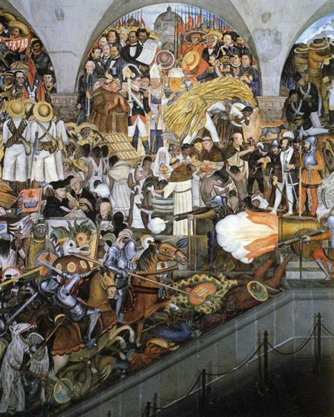 The history of mexico 1929 1935 diego rivera for Diego rivera mural 1929