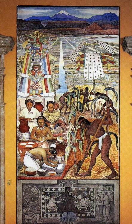 The huastec civilisation diego rivera for Diego rivera mural paintings