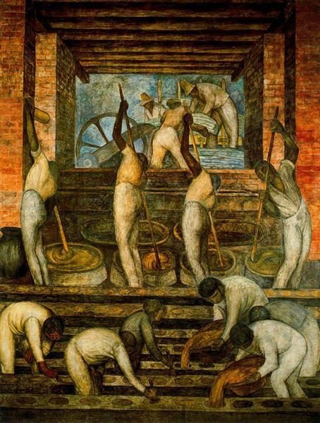 The Sugar Mill, 1923 - Diego Rivera