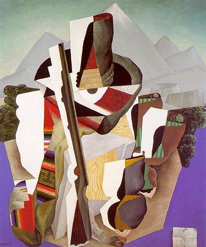 Zapatista Landscape. The Guerrilla - Diego Rivera