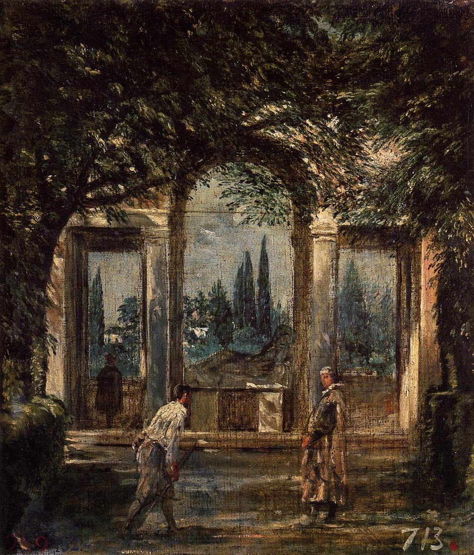 The Gardens Of The Villa Medici In Rome 1630 Diego
