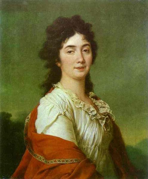 Portrait of Countess A. S. Protasova, c.1795 - Dmitry Levitzky
