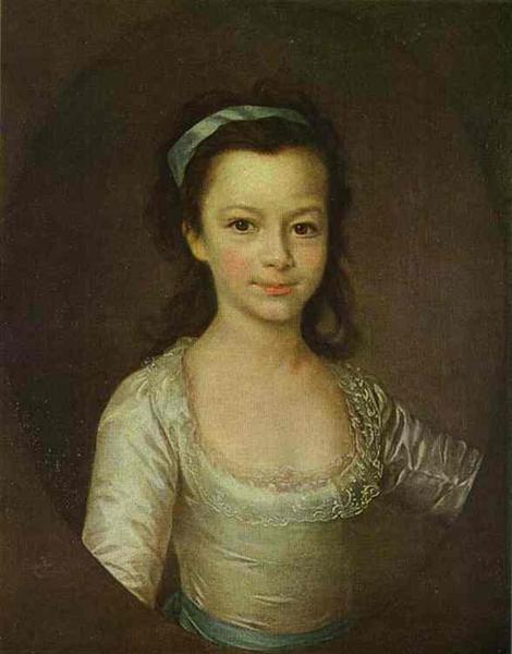 Portrait of Countess Ekaterina Vorontsova as a Child, c.1790 - Dmitry Levitzky