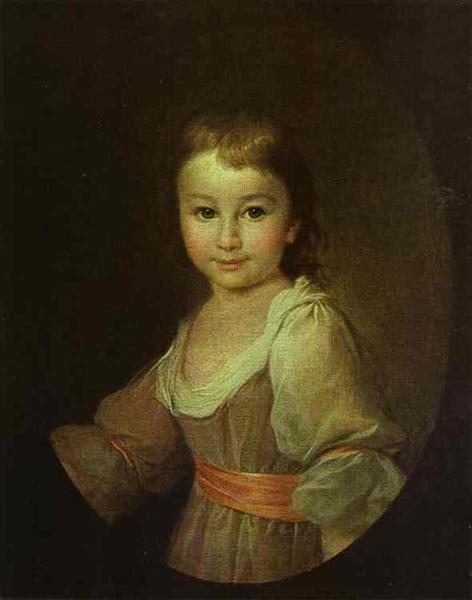 Portrait of Countess Praskovya Vorontsova as a Child, c.1790 - Dmitri Levitski
