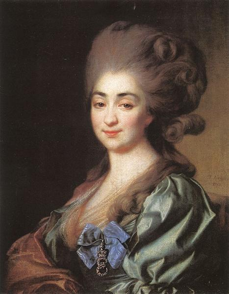 Portrait of Praskovia Repnina, 1781 - Dmitry Levitzky
