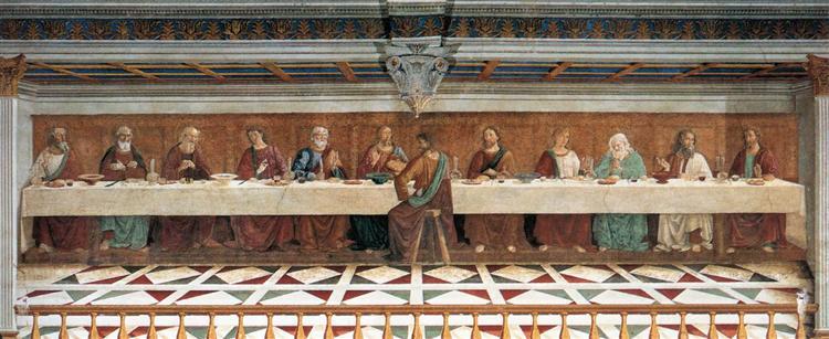 Last Supper, 1476 - Domenico Ghirlandaio