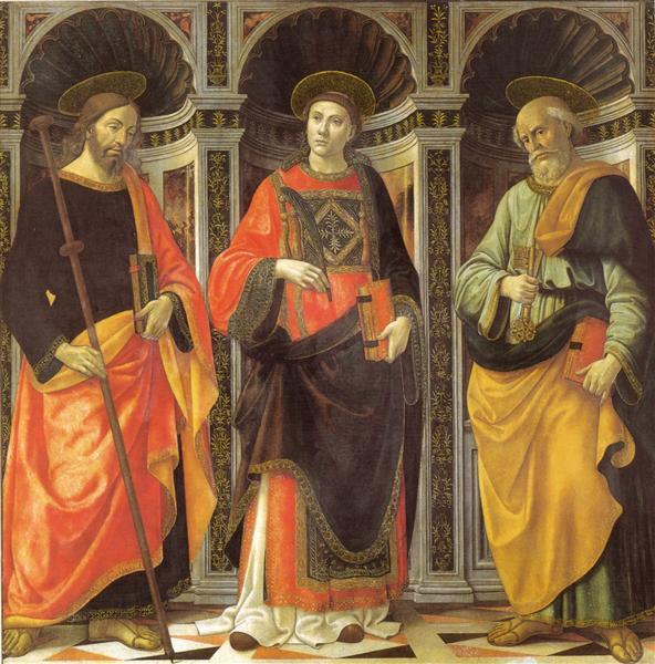 St. Stephen, St. Jacobo, St. Peter, 1493 - Domenico Ghirlandaio