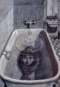 What Is a Monster? Woman Sole in Bath Tub - Domenico Gnoli