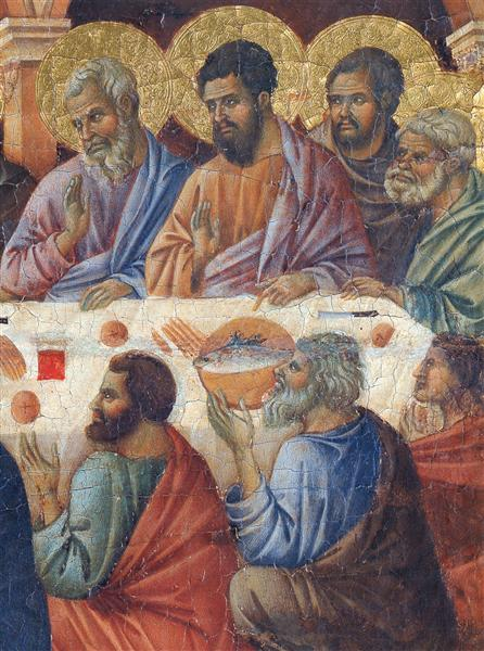 Appearance of Christ to the apostles(Fragment), 1308 - 1311 - Duccio