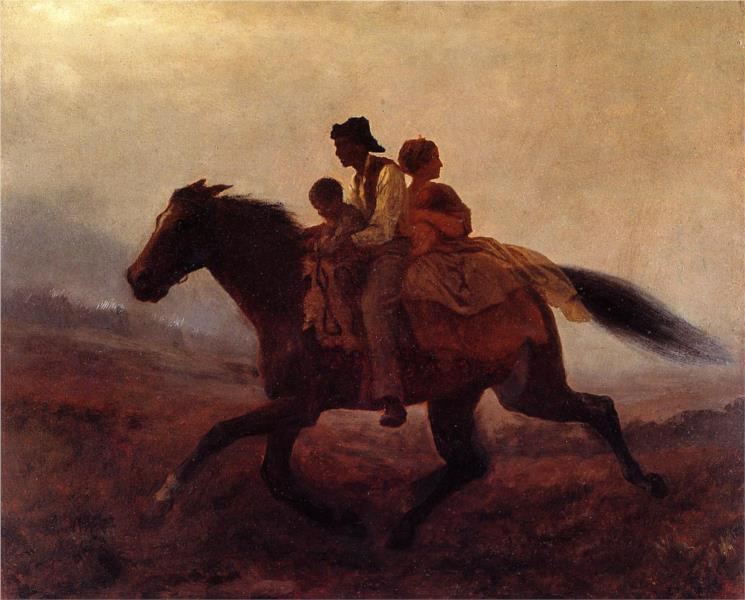 A Ride for Freedom - The Fugitive Slaves, 1862 - Eastman Johnson
