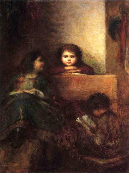 Children Reading - Eastman Johnson