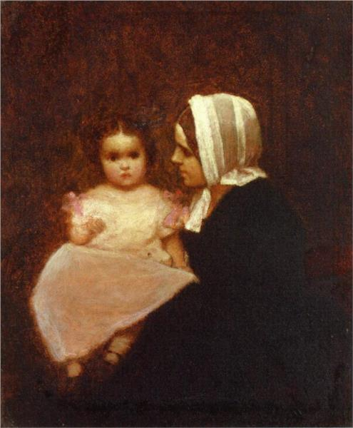 Mother and Child - Eastman Johnson