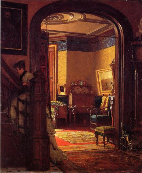 Not at Home, 1873 - Eastman Johnson