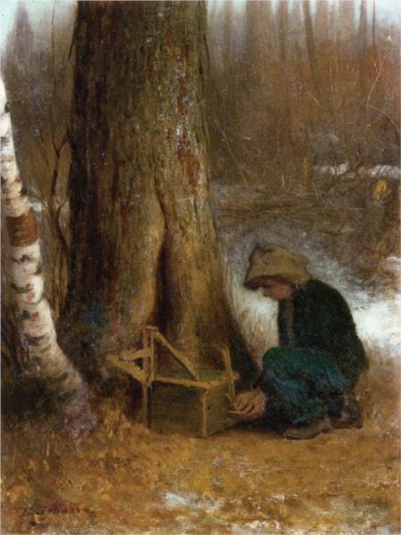Setting the Trap - Eastman Johnson