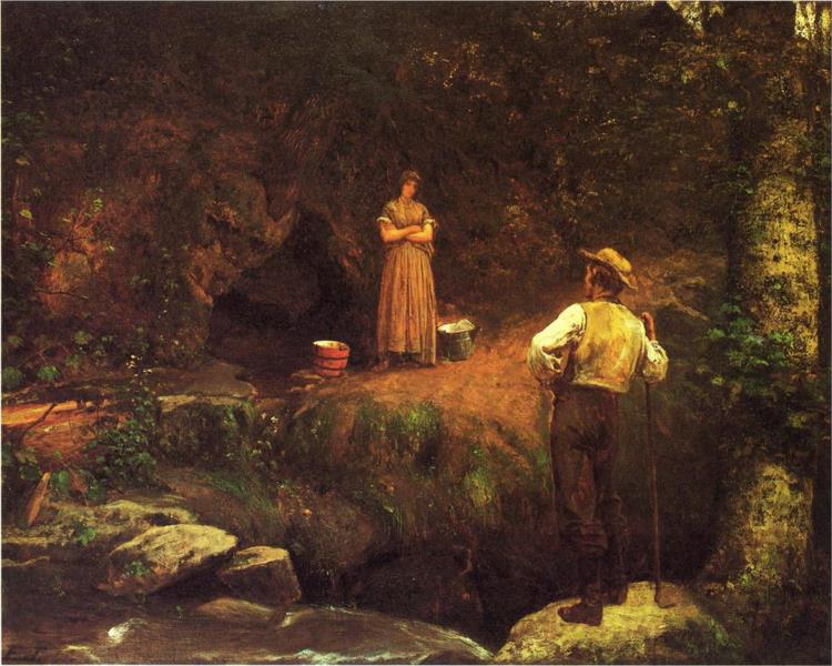 The Early Lovers - Eastman Johnson