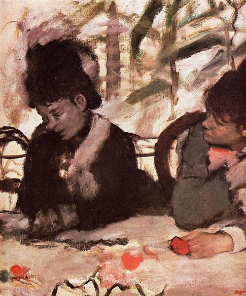 At The Cafe C 1877 Edgar Degas Wikiart Org