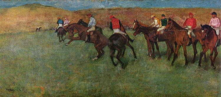 At the Races - Before the Start, c.1885 - c.1892 - Edgar Degas