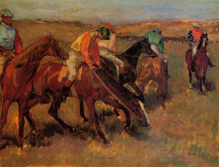 Before the Race, 1882 - Edgar Degas