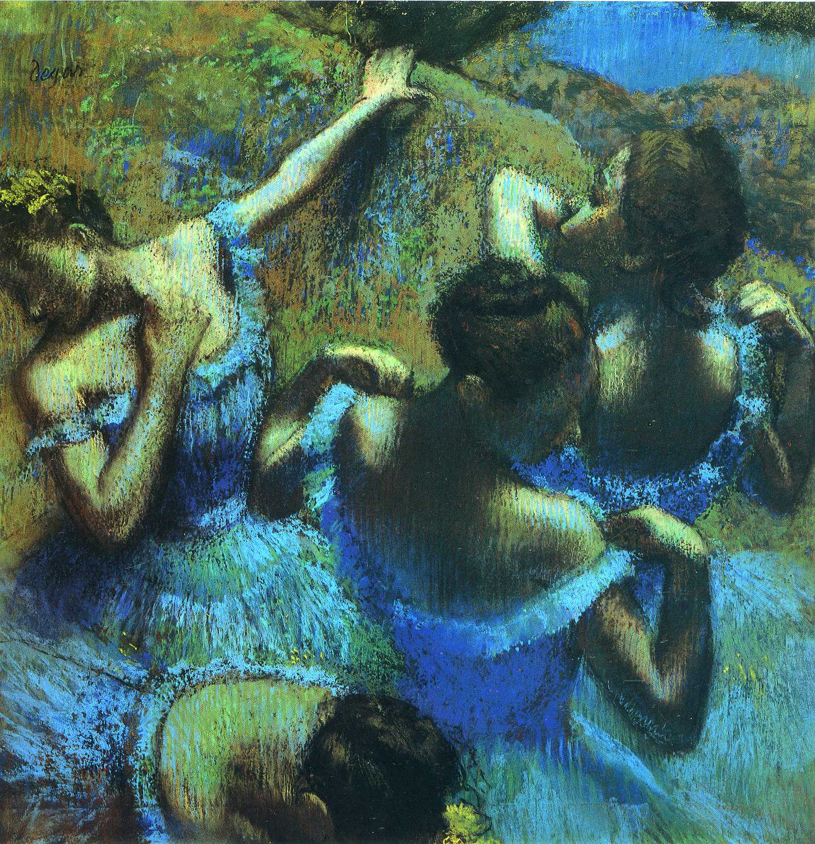Blue Dancers by Edgar Degas, circa 1899