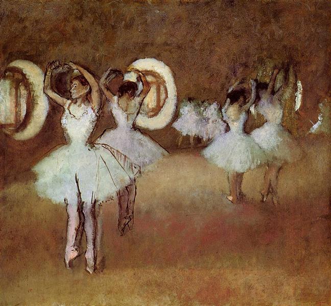 Dance Rehearsal in the Studio of the Opera, 1895 - Edgar Degas