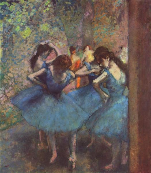 Dancers in Blue, 1895 - 竇加