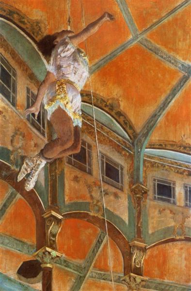 Miss La La at the Cirque Fernando, 1879 - Edgar Degas
