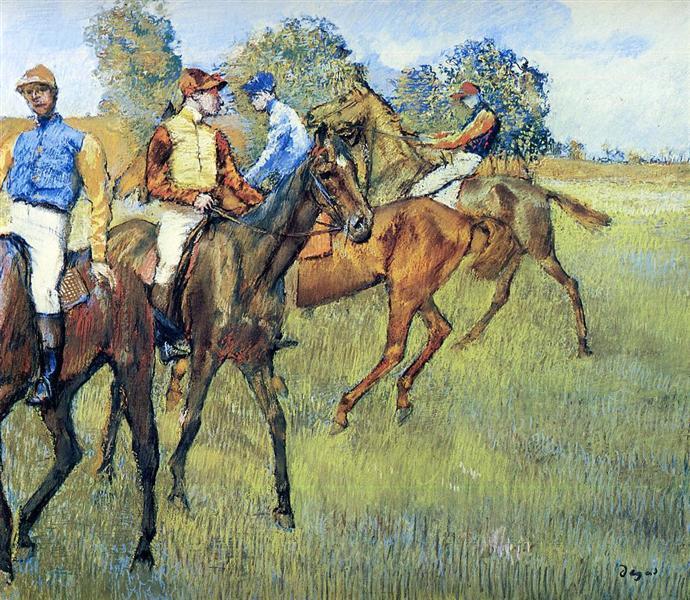 Race Horses, c.1873 - Edgar Degas