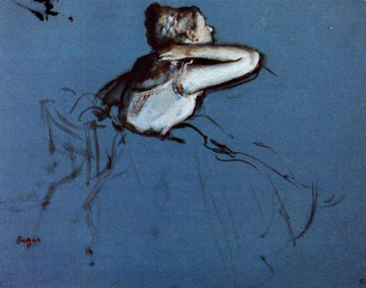 Seated Dancer in Profile, 1873 - Edgar Degas