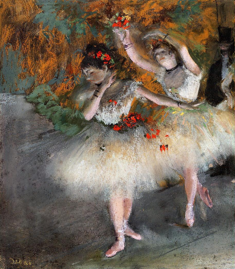 Two Dancers Entering the Stage, c.1877 - c.1878 - Edgar ...