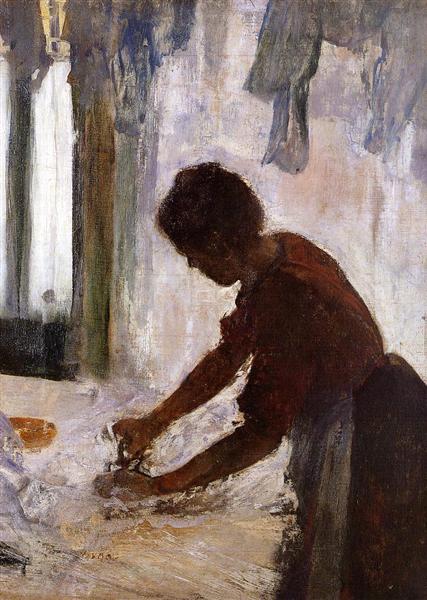 Woman Ironing (Silhouette), 1873 - Edgar Degas